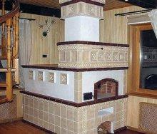 Как выполняется облицовка печей керамической плиткой, камнем и изразцами