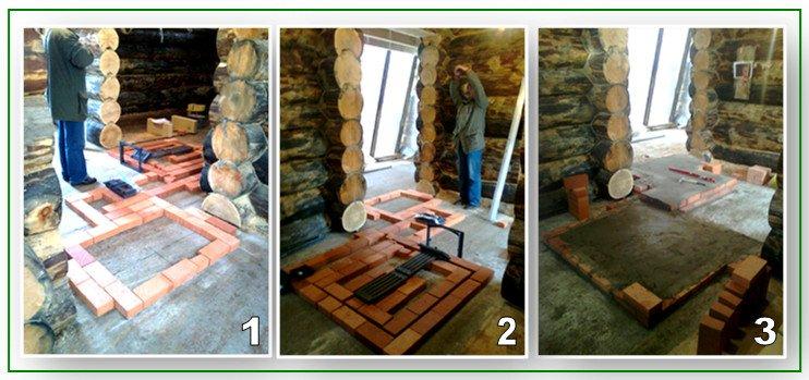 Заливка фундамента под печь в баню: начало работ