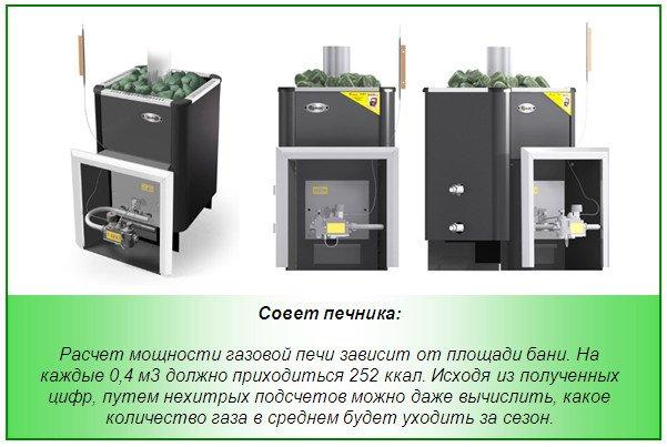 Русские бани 5 -8 °С с кирпичной печью Газовые горелки
