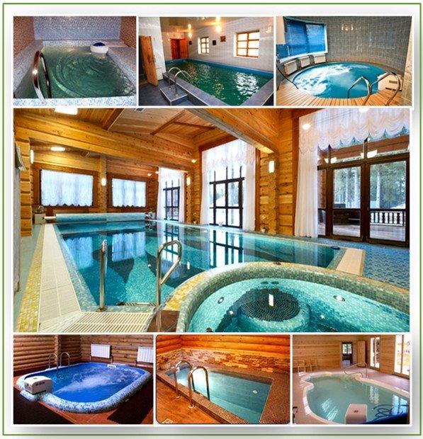 Бассейн в бане: фото подборка