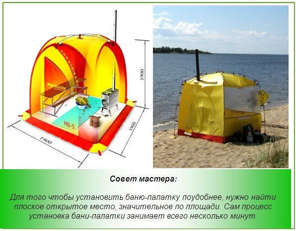 Промышленная модель походной бани