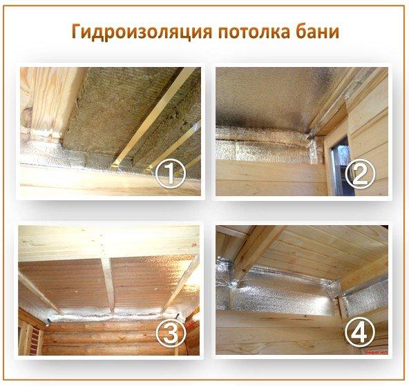 Гидроизоляция потолка бани
