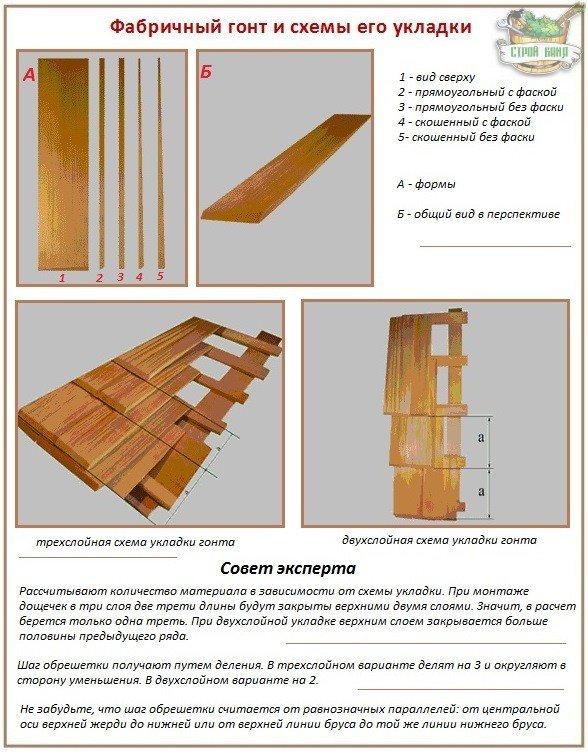 Заводская деревянная дранка - гонт