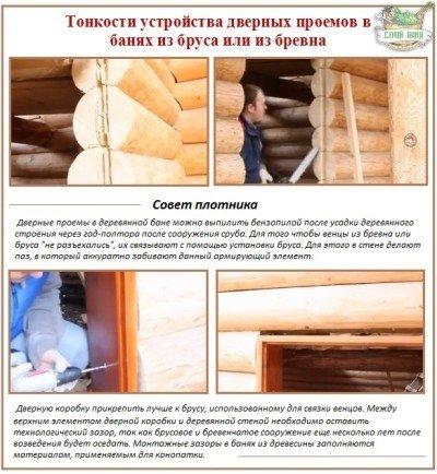 Как сделать дверной проём в деревянном доме 9