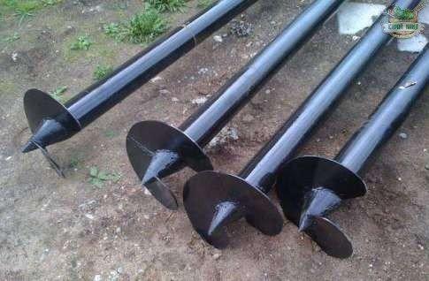 Для фундамента были использованы 14 свай диаметром 108 мм и 6 свай диаметром 73мм