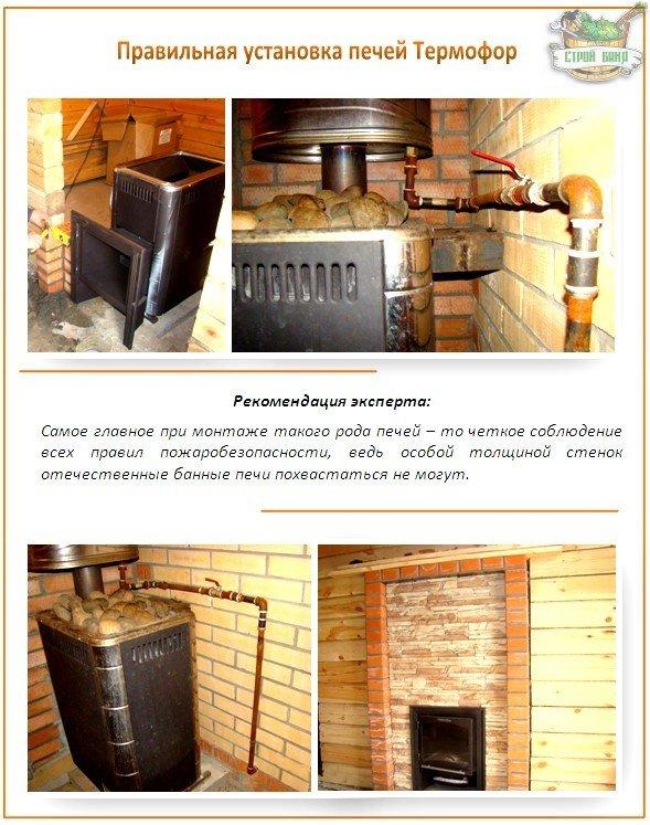 Установка печей Термофор