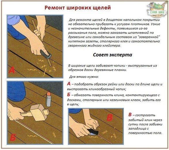 Простой ремонт деревянных полов
