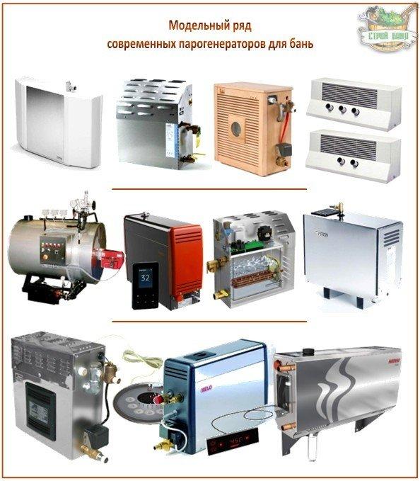 Модельный ряд парогенераторов для бань