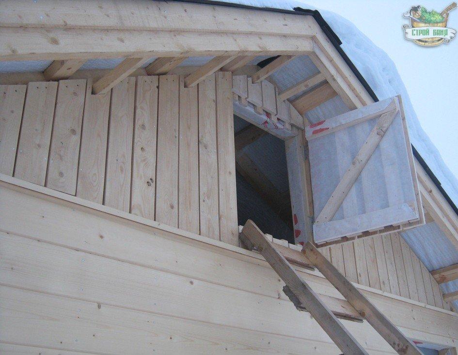Дверца для чердачного люка каркасной бани