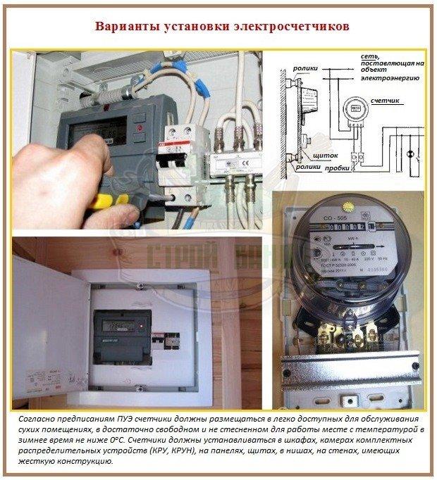 Установка счетчика электроэнергии: способы и варианты
