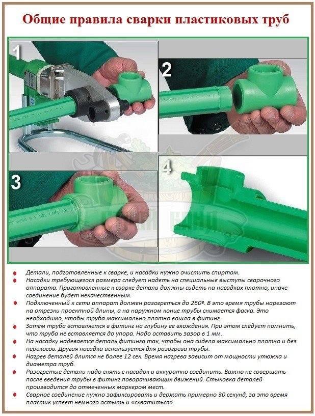 Правида сварки труб для сантехнических трубопроводов