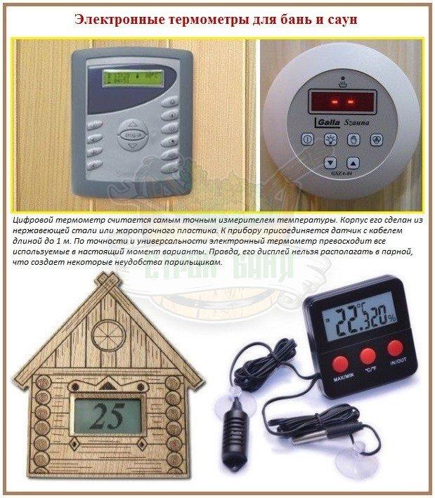 Принцип работы цифровых термометров в бане и в сауне