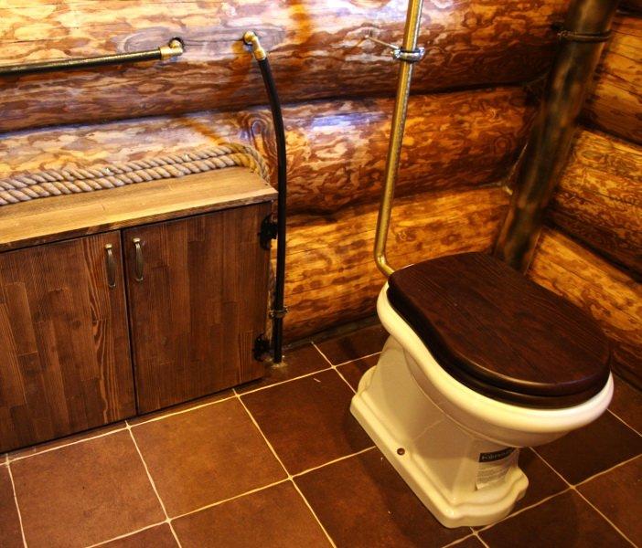 Как сделать баню с туалетом