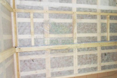 Ветрозащитная мембрана на стенах сауны