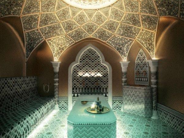 Облицовка стен бани мозаикой