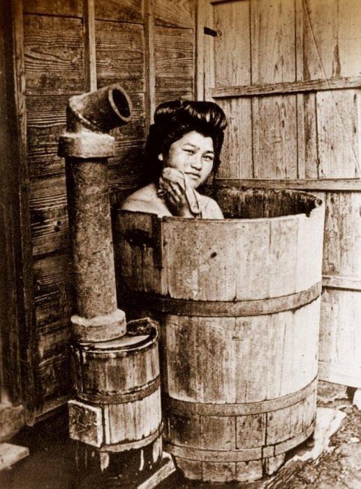 Японская баня в бочке