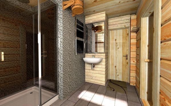 интерьер бани в скандинавском стиле