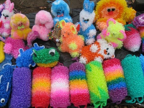 Разноцветные мочалки