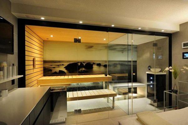 Баня в стиле модерн