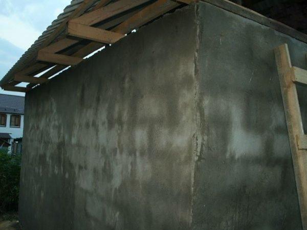 Затирка стен бани из керамзитобетона