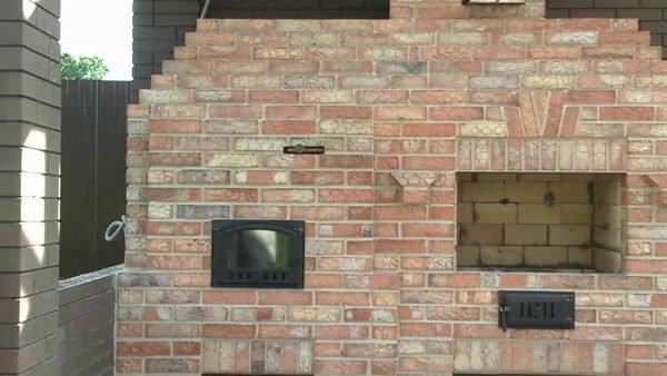Печные дверцы стационарного мангала