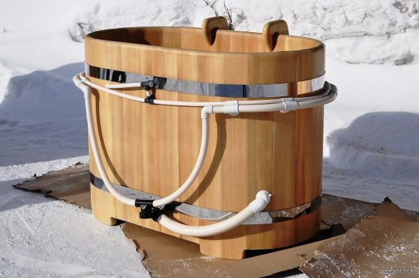 проект бани из бревна с купелью