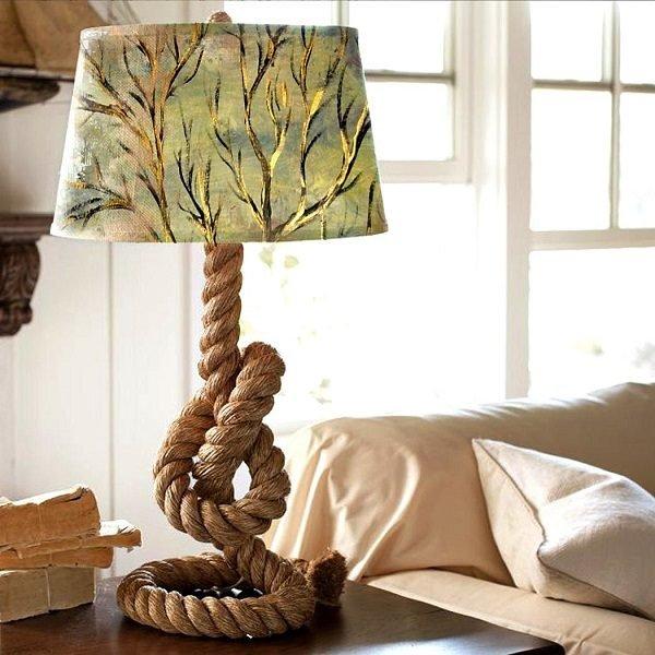 Лампа из жгута