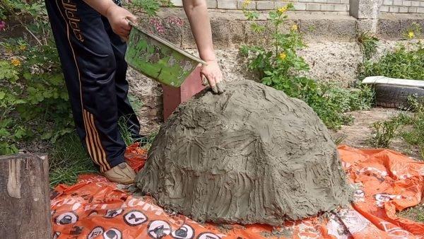 Пропитка ткани цементом