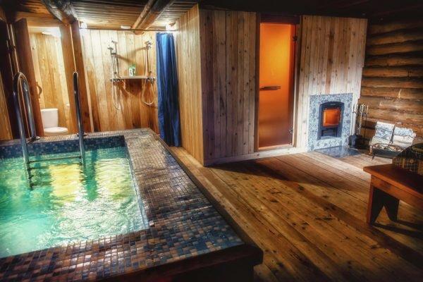 Мини-бассейн в бане