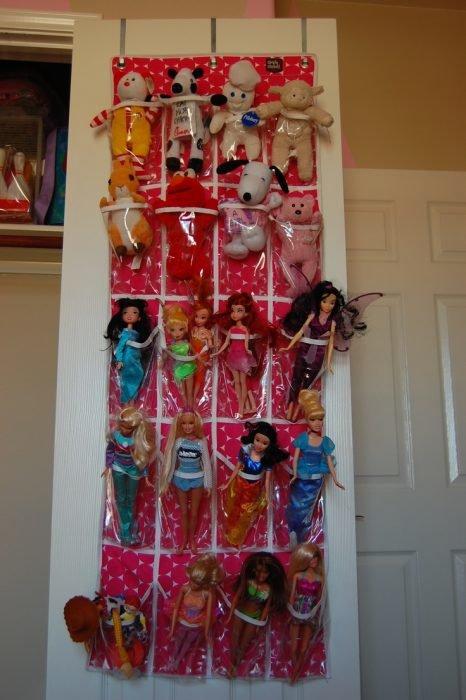 Подвесные кармашки для хранения игрушек