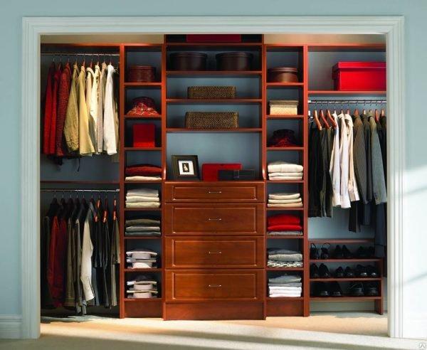 Хранение одежды в мужском шкафу