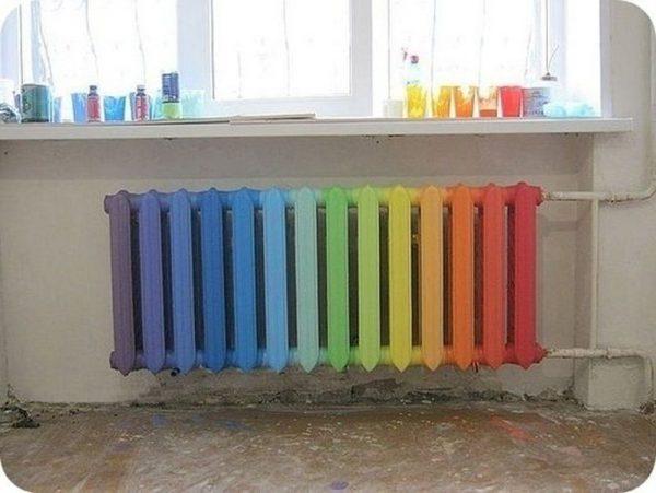 Радужная окраска радиатора