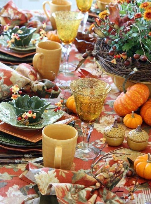 Осенняя сервировка стола