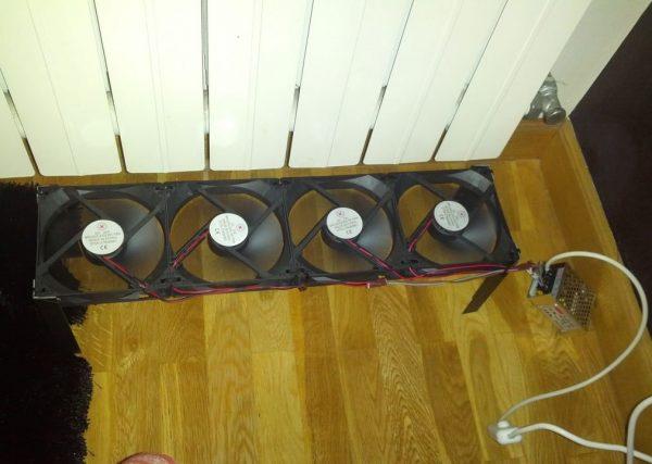 Вентиляция у радиатора
