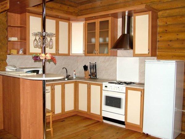 кухня 9 кв с барной стойкой