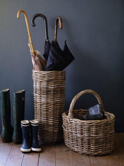 хранение зонтов в прихожей
