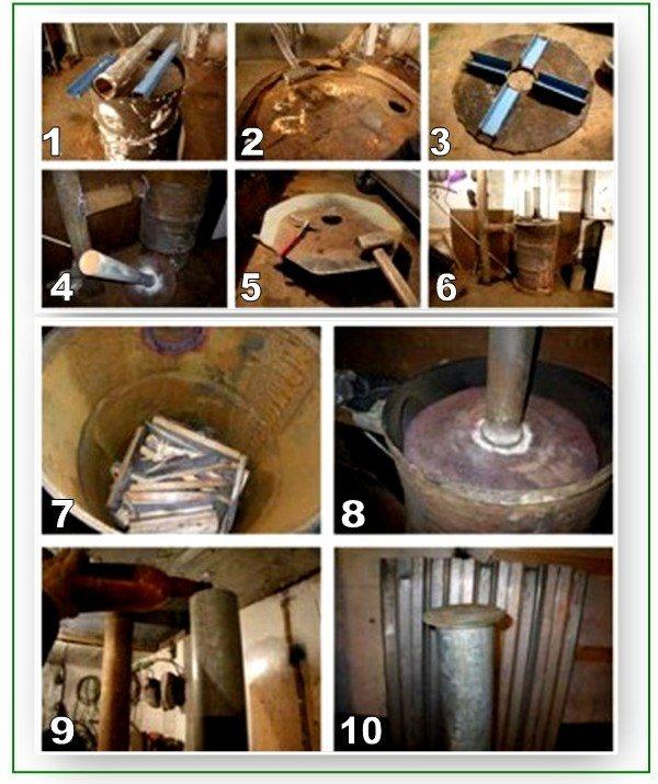 Как сделать печь из трубы: пошаговая инструкция
