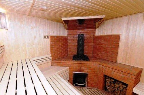 Красивая печь для бани из кирпича