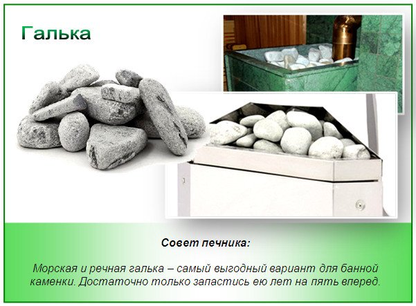Камни для бани - галька
