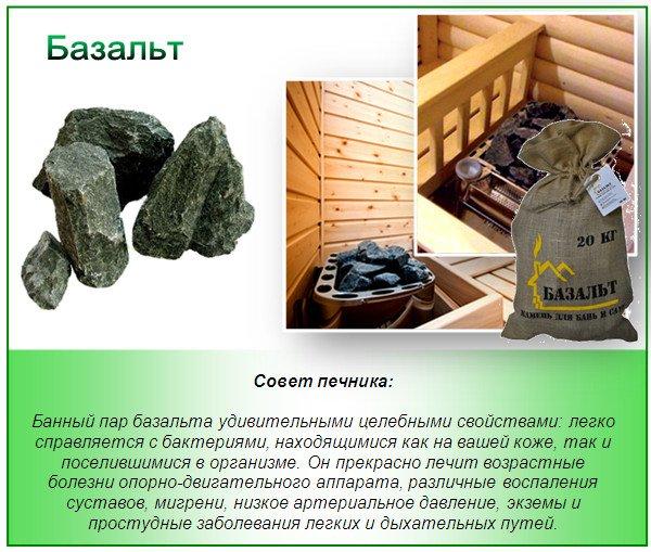 Камни для печи - базальт
