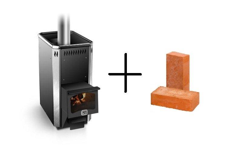 Как обложить металлическую печь кирпичом на примере печи Сахара-16