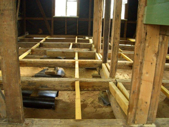 Как сделать пол в бане: протекающая и непротекающая деревянные конструкции + бетонный вариант