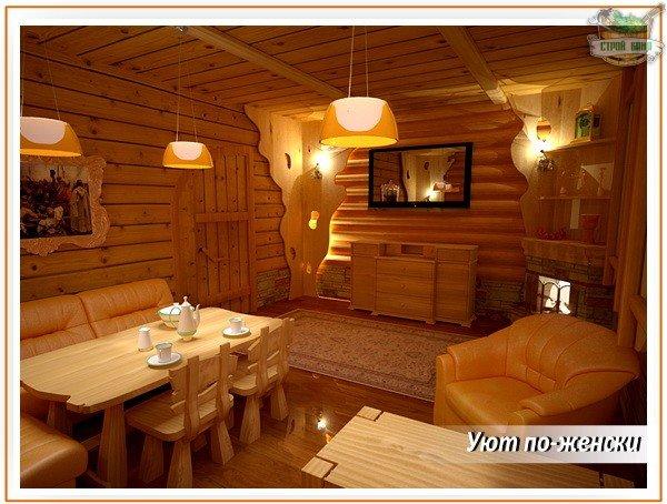 Комната для гостей в бане