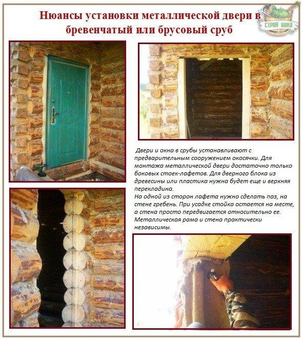 Как правильно установить входную железную дверь