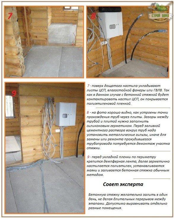 Бетонная стяжка и правила ее заливки на деревянное основание