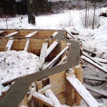 Как правильно залить фундамент зимой: правила безопасности при бетонировании в холодное время