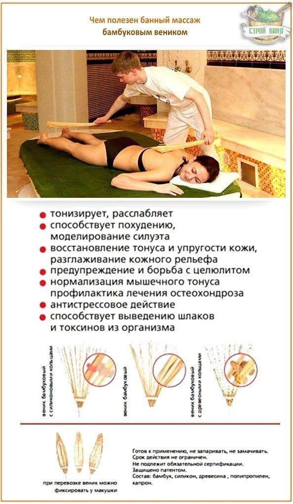 Как правильно делать массаж бамбуковым веником