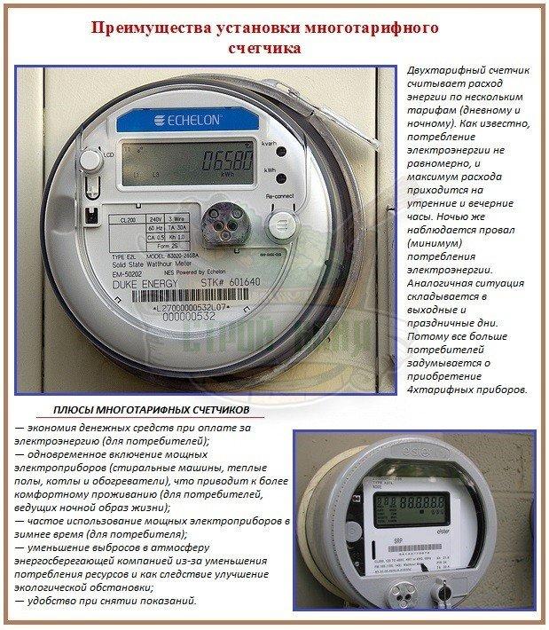 Установка и эксплуатация двухтарифного счетчика электроэнергии