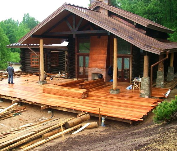 Строим баню с террасой: основные положения по возведению террасной пристройки