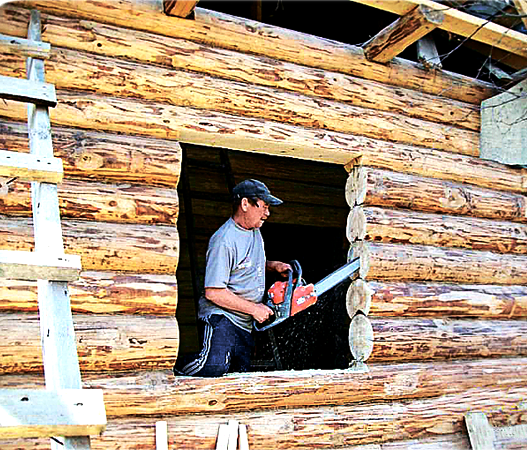 Проектирование дверных и оконных проемов для бревенчатой или брусовой бани